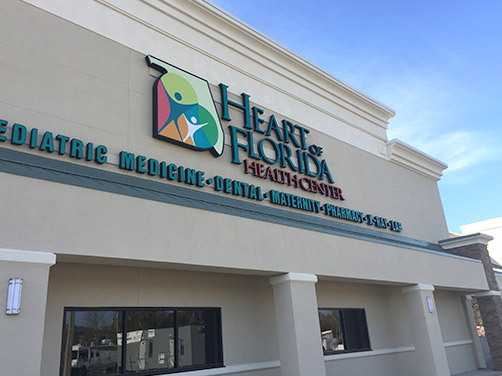 Building exterior of one of our Heart of Florida Heatlh Center locations
